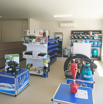 Shop floor showing various products.